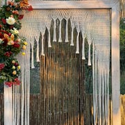 Hand knotted curtain