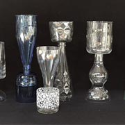 Glass Recycled Bottle Candle Holders
