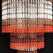 Wooden beads 3 Tier Chandelier