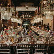 Glass Chandelier & Table Setting