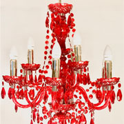Acrylic Red Crystal Chandelier
