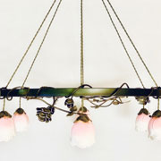Rose Magnolia Iron Chandelier