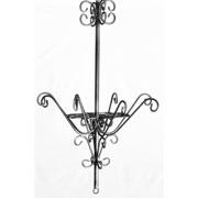 Victorian Curled Iron Flower Chandelier
