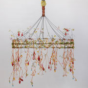 Dawn Red Wire & Beads Chandelier