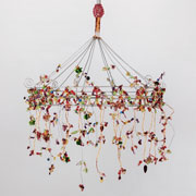 Phoebe Purple Wire & Beads Chandelier