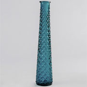 Glass Tall Tapered Vase Spanish - Aqua Green