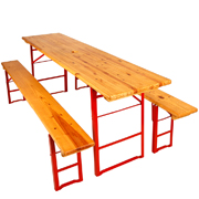 Wooden Beer Bench Set