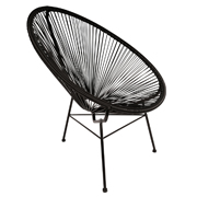 Black Acapucio Cafe Chair