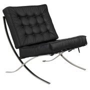 Black Barcelona Single Seater Couch