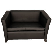 Black Club Double Seater Couch