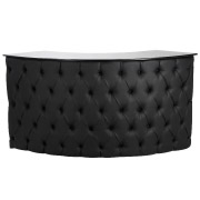Black Curved Buttoned Counter