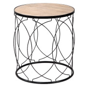 Black Deco Side Table