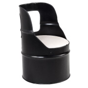 Black Drum Single Seater Couch