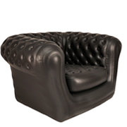 Black Inflatable Single Seater Couches