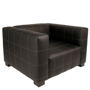 Black Leather Hudson Single Seater Couch
