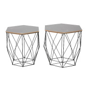 Black Marble Nested Side Table
