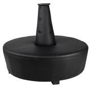 Black Mexican Hat Ottoman