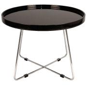 Black Round Martini Coffee Table