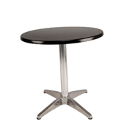 Black Round Cafe Table