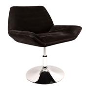 Black Edge Swivel Single Seater Couch