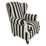 Black and White Clarissa Single Seater Couch
