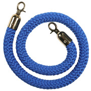 Blue Stanchion Rope With Gold Clasp