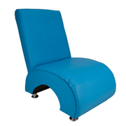 Blue Question Mark Single Seater Couch
