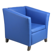 Blue Club Single Seater Couch