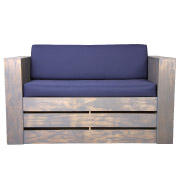 Blue Pallet Double Seater Couch