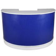 Blue Semi Circle Bar Counter