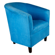 Blue Carla Tub Single Seater Couch