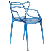 Blue Twist Cafe Chair