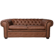 Brown Chesterfield Double Seater Couch