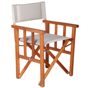 White Directors Cafe Chair