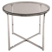 Glass Round Cross Legged Coffee Table
