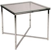 Glass Square Cross Legged Coffee Table