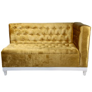 Gold Cleopatra (Left) Double Seater Couch