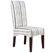 Grey & Yellow Striped Colourful Dining Chair