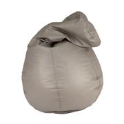 Grey Leather Bean Bag