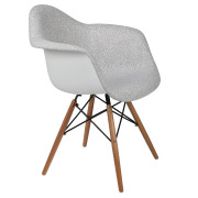 Grey Padded Eames Bucket Cafe Chair