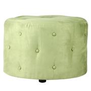 Green Round (Studded) Ottoman
