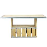 Knock Down Single Base Rectangular Top Cafe Table