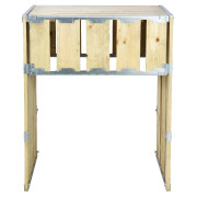 Knock Down Single Base Square Cocktail Table