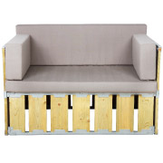 Knock Down Single Seater Couch (With Sides)