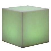 Square LED Box Ottoman