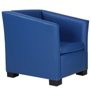 Navy Club Single Seater Couch