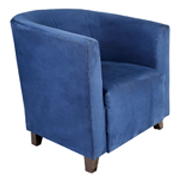 Navy Carla Tub Single Seater Couch