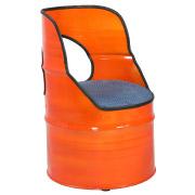 Orange Drum Single Seater Couch