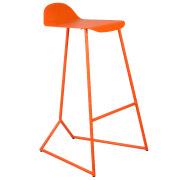 Orange Jimmy Bar Stool