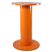Orange Wooden Spool Cocktail Table